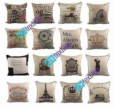 """Luxury Tapestry Linen Cushion Cover, Embroidered Scatter Cushions, 18""""x18"""""""