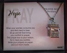 t Hope Pray Prayer Box Necklace Let God bring you comfort ganz
