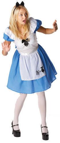 Alice in Wonderland Costume S /& L Womens Fancy Dress Wonderland Fairy Tale