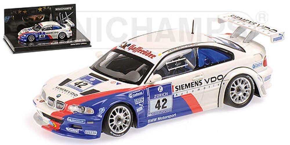 Minichamps 1 43  444042342 BMW m3 GTR BMW Motorsport Nürburgring 2004-stuc