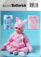 Butterick Pattern Infants' Bunting Jacket Pants Hat Mittens Easter Bunny B4333