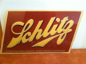 Antique vintage bar advertising sign glass for schlitz bar light c antique vintage bar advertising sign glass for schlitz aloadofball Image collections