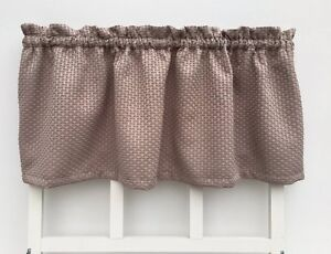 Image Is Loading Brown Tan Basket Weave Cottage Style Valance Window