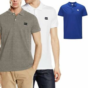 Jack-amp-Jones-Mens-Polo-T-Shirt-Short-Sleeve-Cotton-Collared-Casual-Summer