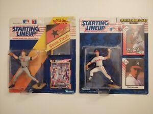 STARTING LINEUP 1992 1993 Chuck Finley & Tom Glavine Angels Braves Baseball SLU