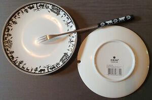 Lot de 6 Assiettes à fondue avec fourchettes assorties (HEIDI Cheese line) NEUF