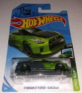 R35 2019 Hot Wheels SPEED BLUR 7//10 /'17 Nissan GT-R - Guaczilla 61//250 T Fox