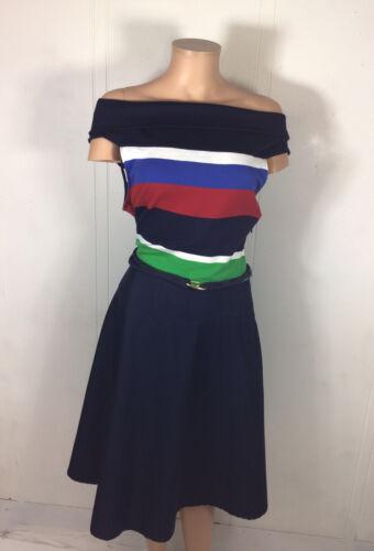 RALPH LAUREN Classic Stripe Dress Womens Large