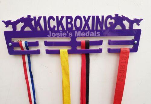 Kickboxing Medal Hanger Medal Holder Display Personalised 2 Tier 5mm Acrylic