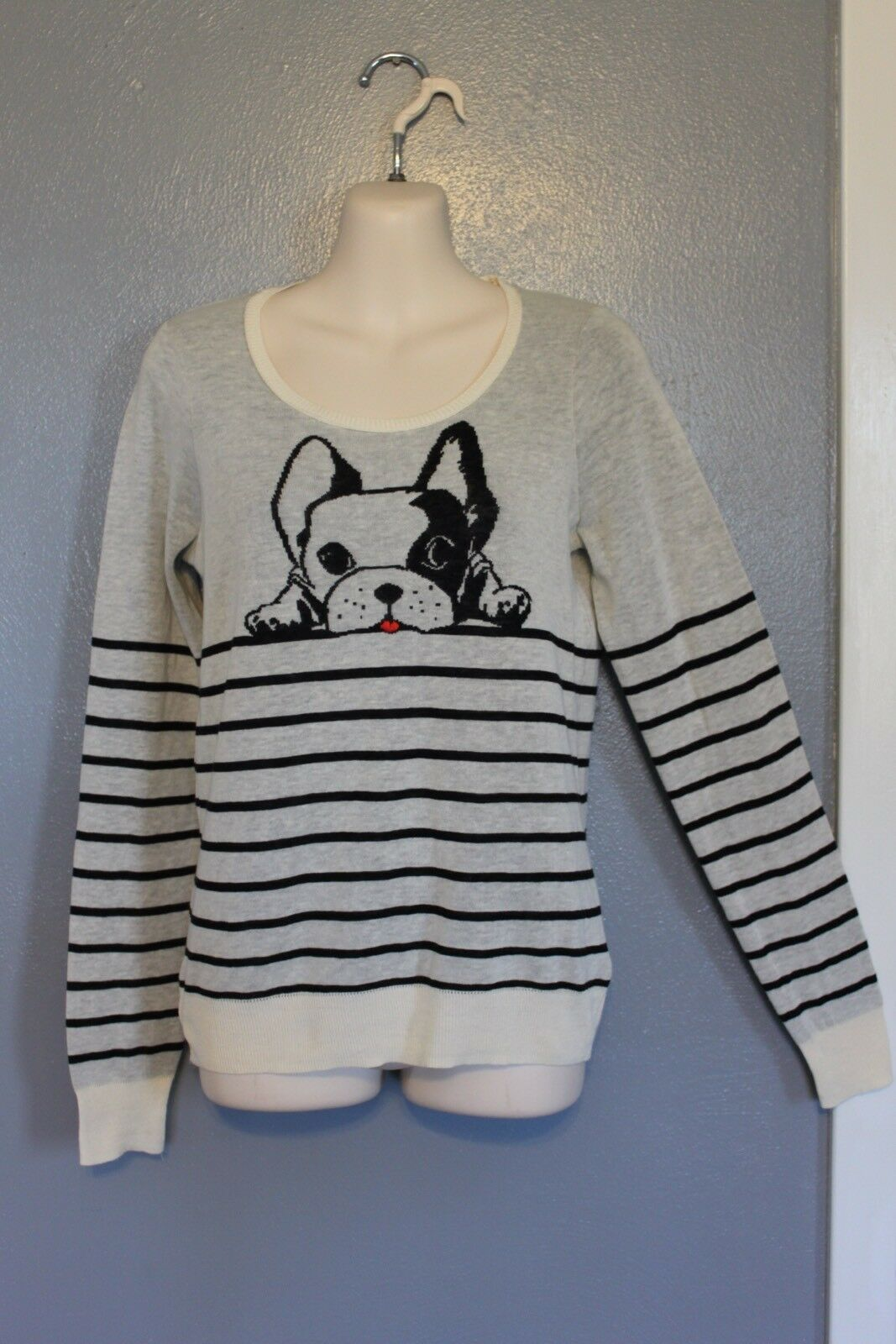 NEW NEW NEW HWR Anthropologie French Bulldog Dog Sweater XS d45afc