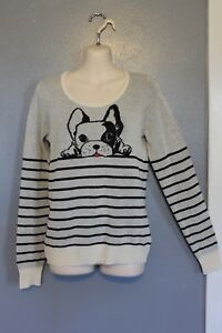 d6b2444ee6017 Image is loading NEW-HWR-Anthropologie-French-Bulldog-Dog-Sweater-XS