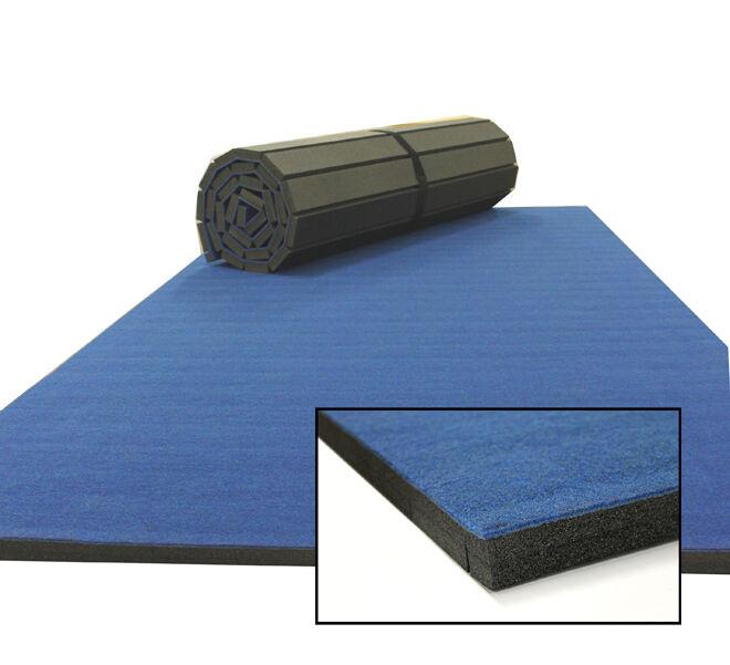 Cannons UK Rollaway Gymnastics Wrestling Martial Arts Mat CARPET TOP