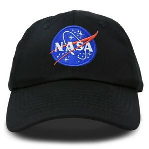 f07a6144 Image is loading DALIX-NASA-Hat-Baseball-Cap-Washed-Cotton-Embroidered-