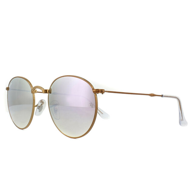 39d872b01 Ray-Ban 0rb3532 Round Sunglasses Lilac Flash Gradient Shiny Bronze ...