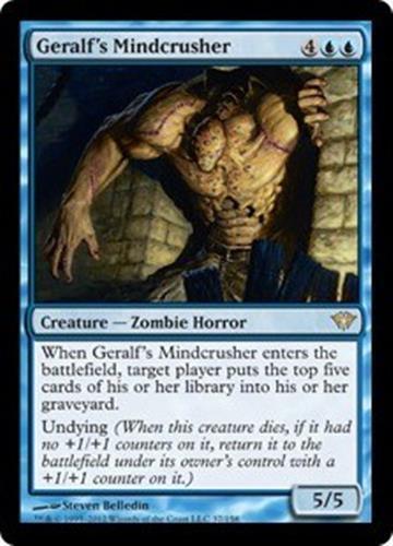 GERALF'S MINDCRUSHER Dark Ascension MTG Blue Creature—Zombie Horror RARE