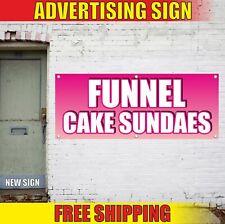 Funnel Cake Sundaes Advertising Banner Vinyl Mesh Decal Sign Sweet Fair Bakery