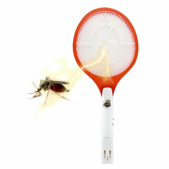 Rechargeable Electronic Mosquito Insect Bug Fly Zapper Swatter Net Racket I5