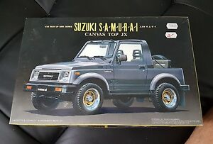 KIT MAQUETTE VOITURE 1/24 SUZUKI SAMURAI CANVAS TOP JX FUJIMI 03348 VINTAGE CAR