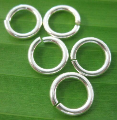 100/% REAL925 sterling silver round open JUMP RING 9mm x 1.5mm DIY jewellery