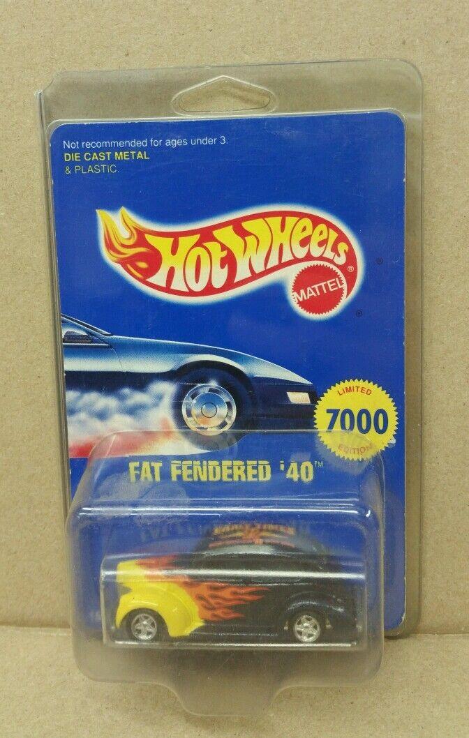 heta hjul Early tids Fat Fenderöd'40 begränsad Edition 1 of 7000 RARE NEW