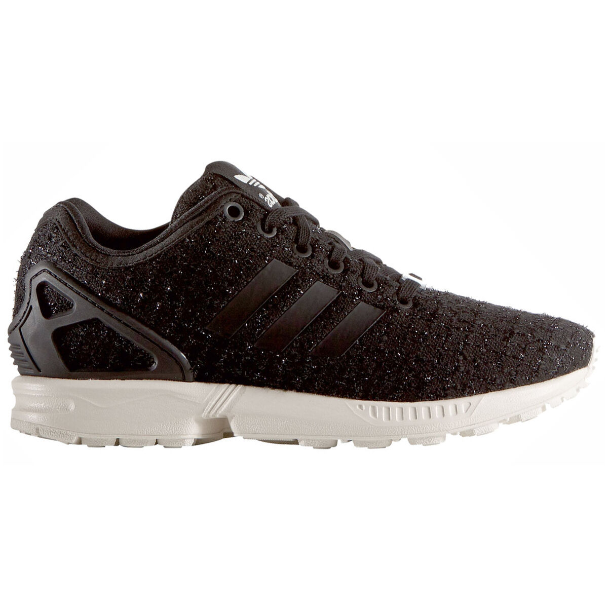 50cada870416b adidas Originals W ZX Flux Tweed S77309 Core Black white Torsion ...