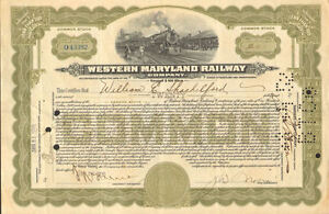 Western-Maryland-Railway-gt-railroad-stock-certificate