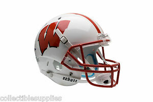 WISCONSIN BADGERS SCHUTT FULL SIZE REPLICA FOOTBALL HELMET