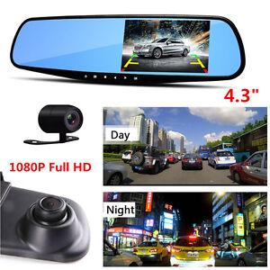 170°HD 1080P Car Dual Lens DVR Vehicle Front Rear Video Recorder Dash Cam Camera
