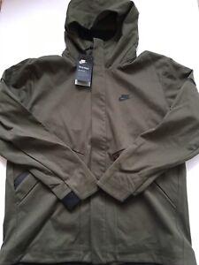 38305a27cec9 Image is loading New-Nike-Sportswear-Tech-Fleece-Repel-Windrunner-Olive-