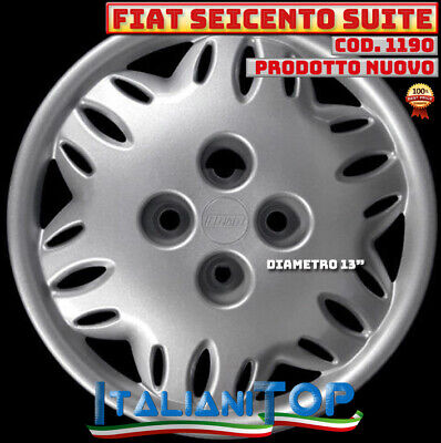 1 COPRICERCHIO BORCHIA COPPA RUOTA DIAMETRO 13 FIAT 600  SEICENTO dal 1998 />
