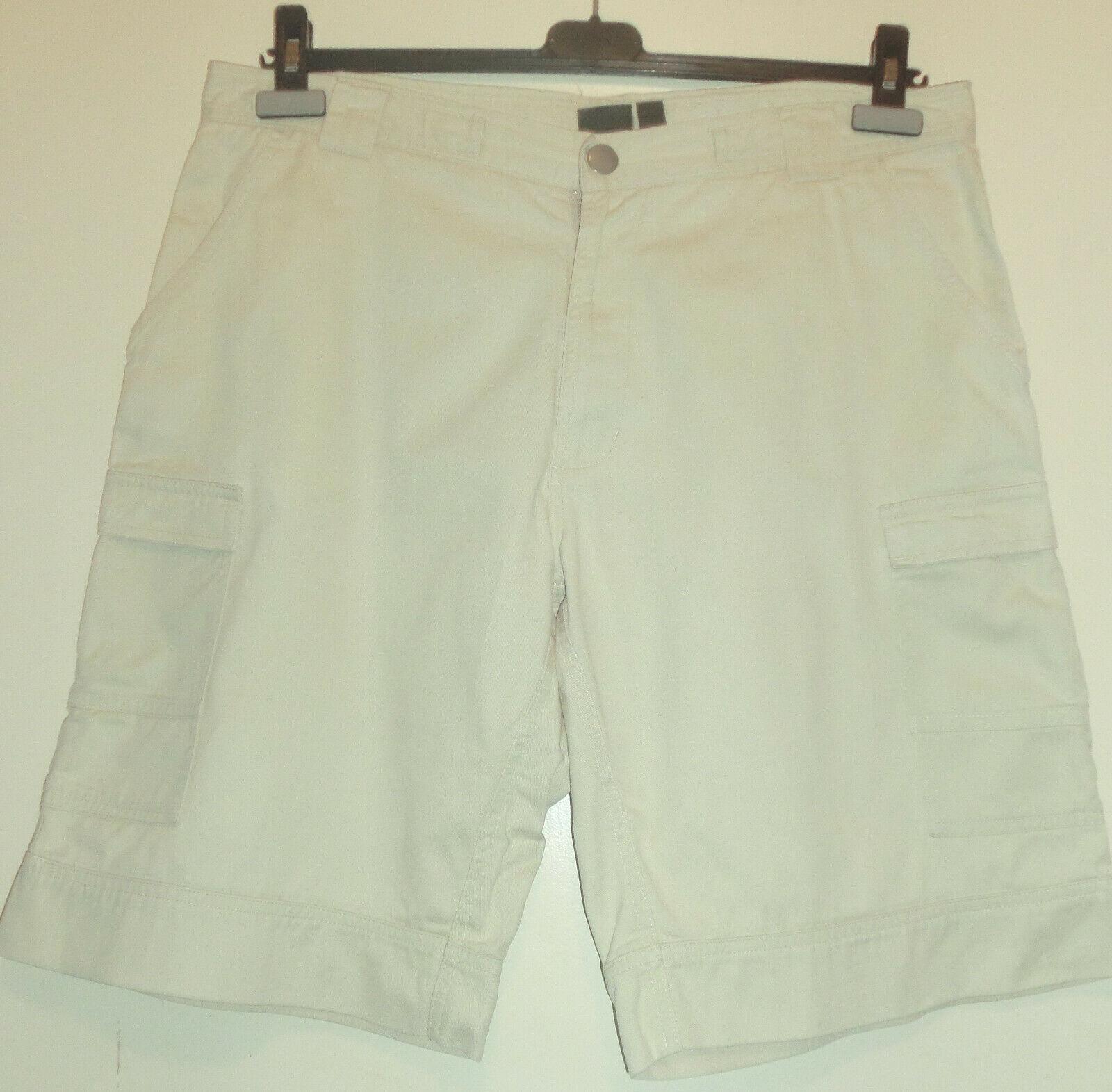 Beige kurze Hose mit aufgesetzten Taschen im Cargo-Style Gr. 52/54