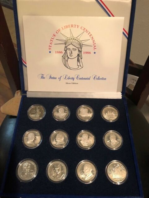 Lady Liberty Silver Stamp Souvenir Coin Collection Of Tourist Travel Virtual