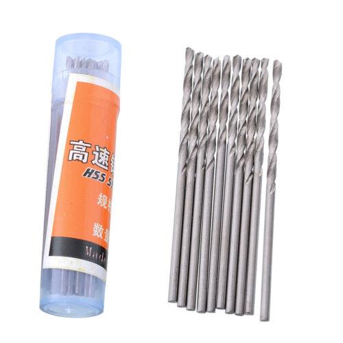 50pcs 1.0mm Micro HSS Straight Shank Twist Drill Drilling Bits Set Kit