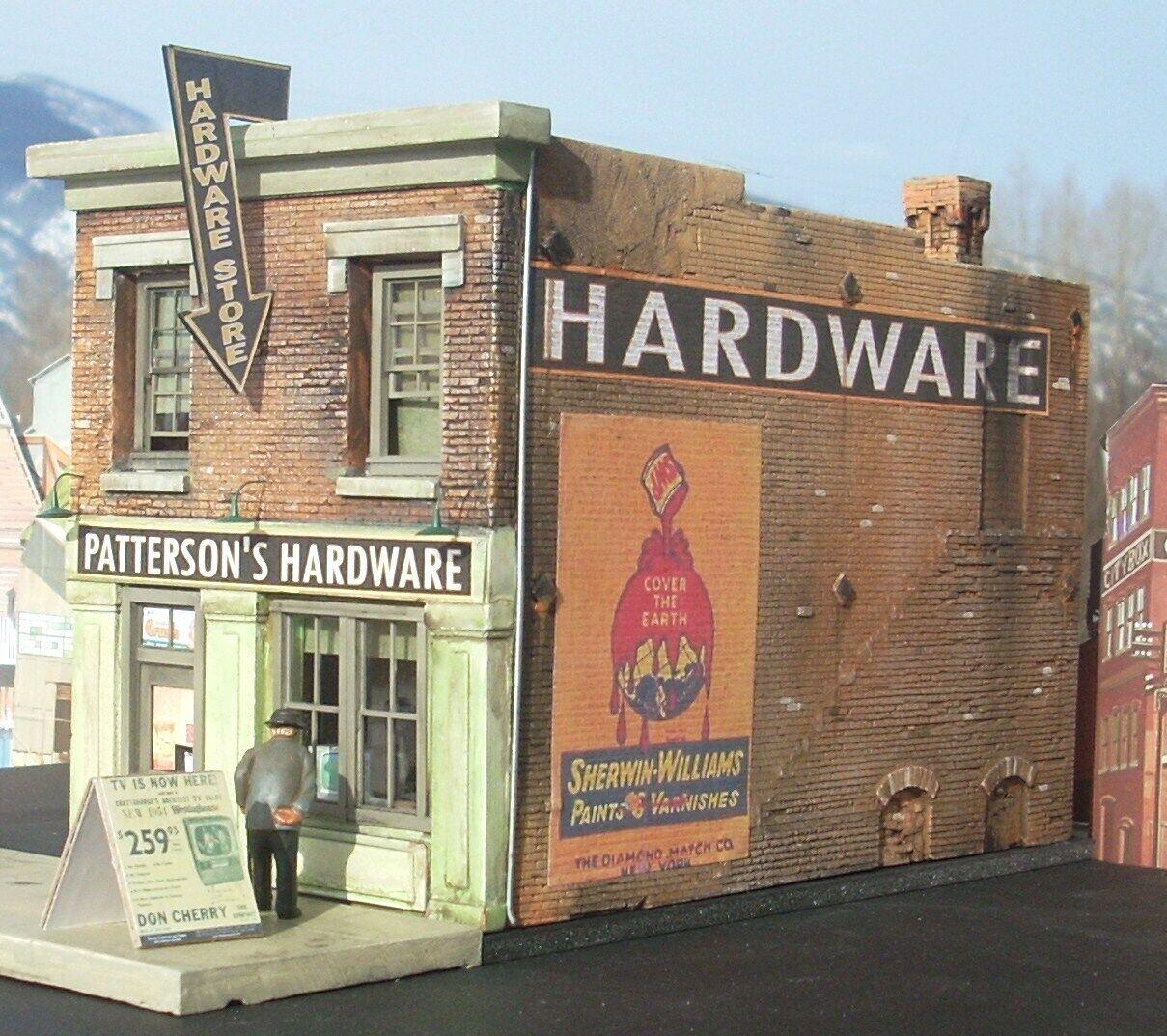 Centro tienda de hardware Deco 48 o escala modelo del FerroCocheril Tren builidng Envío Gratis