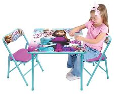Disney Frozen Kids Activity Folding Table and Two Chairs Set NEW NIB