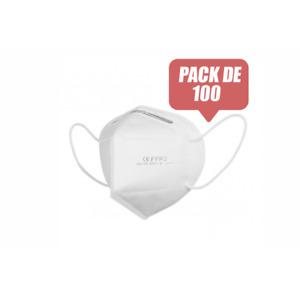 Pack 100 Mascarillas EPI FFP2 No Reutilizables KN95 Blanco