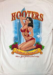 Hooters-Shirt-Island-Dreams-Mens-Medium-Waitress-Problems-Float-Away-Beer-Bikini