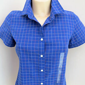 ladies-Tommy-Hilfiger-Shirt-Blouse-Office-Casual-R-R-P-49-50-Navy-white