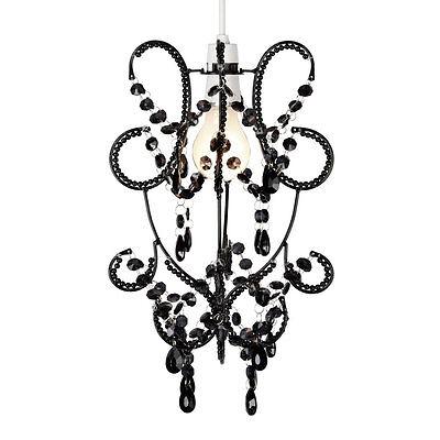 Modern Black Jewel Ceiling Light Fitting Pendant Lamp Shade Chandelier Lampshade