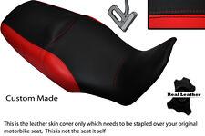 BLACK &BRIGHT RED CUSTOM FITS HONDA XL 1000 V VARADERO 08-13 DUAL SEAT COVER