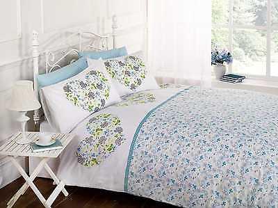 Hearts & Flowers Floral Duvet Quilt Cover Bedding Set + Pillowcases