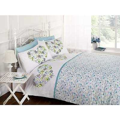 Hearts & Flowers Floral Duvet Quilt Cover Bedding Set + Pillowcases