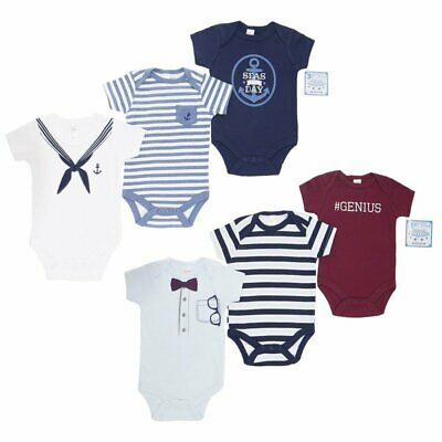 3-6 Racoon Sailor  NB 0-3 Baby Boy 3 Pack Bodysuit Zebra 6-9 /& 9-12mth