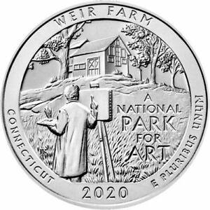2020-USA-5-oz-Silver-999-Fine-ATB-National-Park-Weir-Farm-Connecticut-Coin-BU
