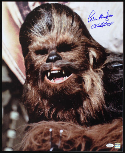 JSA 1977 Peter Mayhew Star Wars Signed LE 16x20 Color Photo Head Shot