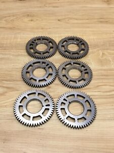 Lot Of 6 Industrial Machine Steampunk Pulley Gear Cog Lamp Base