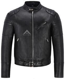 Giacca trapuntata nera uomo Napa da stile 2614 motociclista in da pelle spalla vera rx0wrqY6