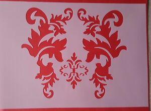 1342 Schablonen Ornamente Vintage Stanzschablone<wbr/>n Shabby Stencil Wandtattoo