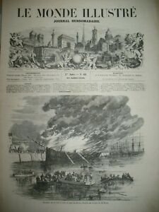 POMPIERS-DOCKS-LONDON-ROMORANTIN-COMICE-AGRICOLE-ILE-DE-CHARENTON-GRAVURES-1858