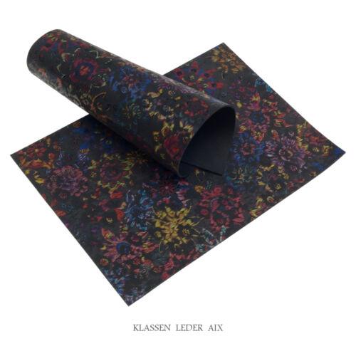 Pelle bovina Flower Design 2,4 mm di spessore NABUK a4 VERA PELLE LEATHER 191